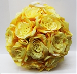 Yellow Rose Ball Hanging Decoration