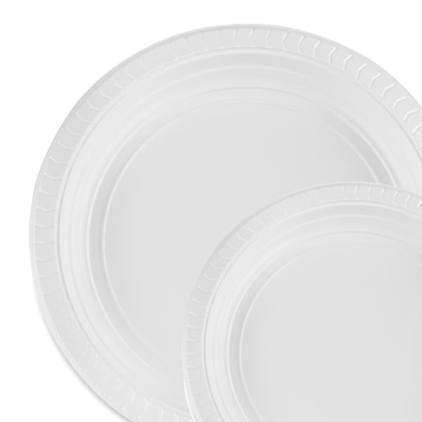 Every Day 100 Count Plastic Plates - Choose Plate Size