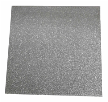 Water Resistant  Silver Glitter Charger - Extra Heavyweight Cardboard