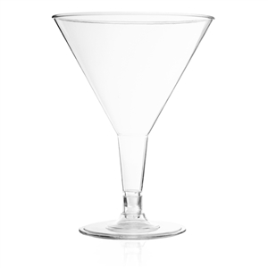 6oz. Plastic Martini Cups, 6 Per Pack - Disposable Party Cups
