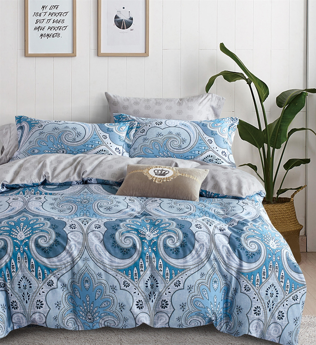 Bedford 8PC 100% Cotton Bedding Set