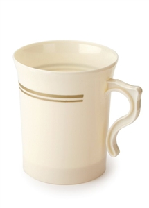 China Like Ivory Mugs, 8 Per Pack - Disposable Party Cups