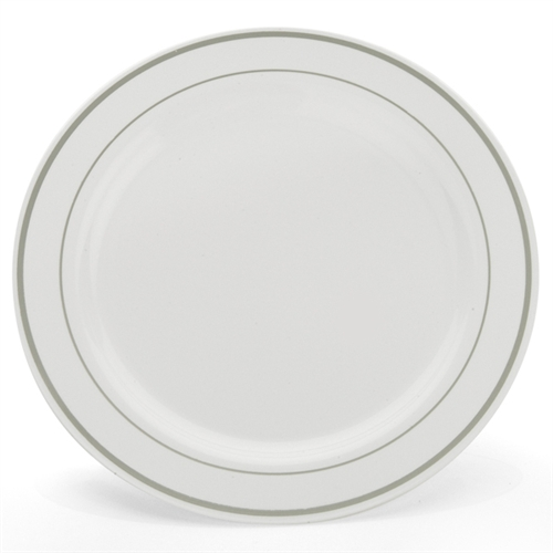 10 White And Silver China Like Plastic Plates 10 Count  sc 1 st  Best Image Engine & Glamorous Elegant Plastic Plates Contemporary - Best Image Engine ...
