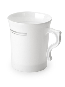 China Like White Mugs - 8 Per Pack