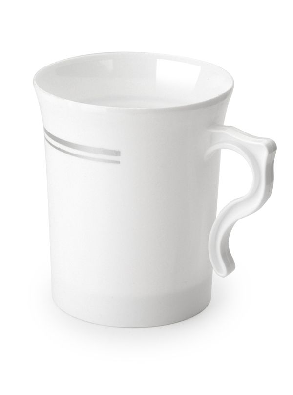 China Like White Mugs, 8 Per Pack - Disposable Party Cups