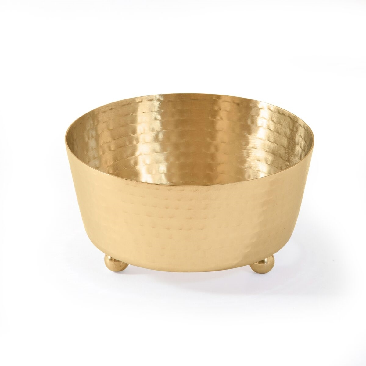 Hammered Design Dip Container Holder - Gold/Silver