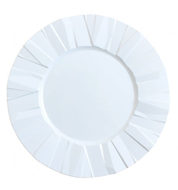 "7"" Crinkle Collection Disposable Party Plates - Durable & Disposable"
