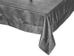 Crocodile Damask Tablecloth by Violet Linen - Available in White or Gold, vintage table linen