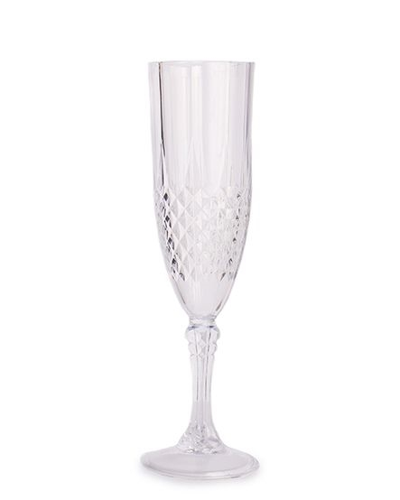 Crystal Effect Plastic Champagne Glasses - They look like real glass - 4  Pack 7c015d8f9e8a