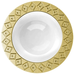 Decor Imperial Collection Gold/White Bowls - 10 Count - Choose Bowl Size