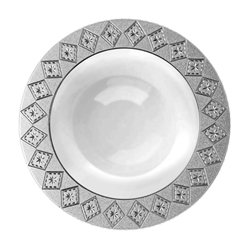 Decor Imperial Collection Silver/White Bowls - 10 Count - Choose Bowl Size