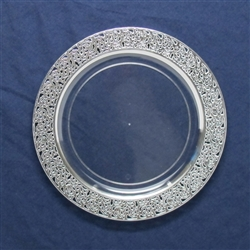 Inspiration High End Plastic Plates Clear/Silver - 120 Count - Choose Plate Size