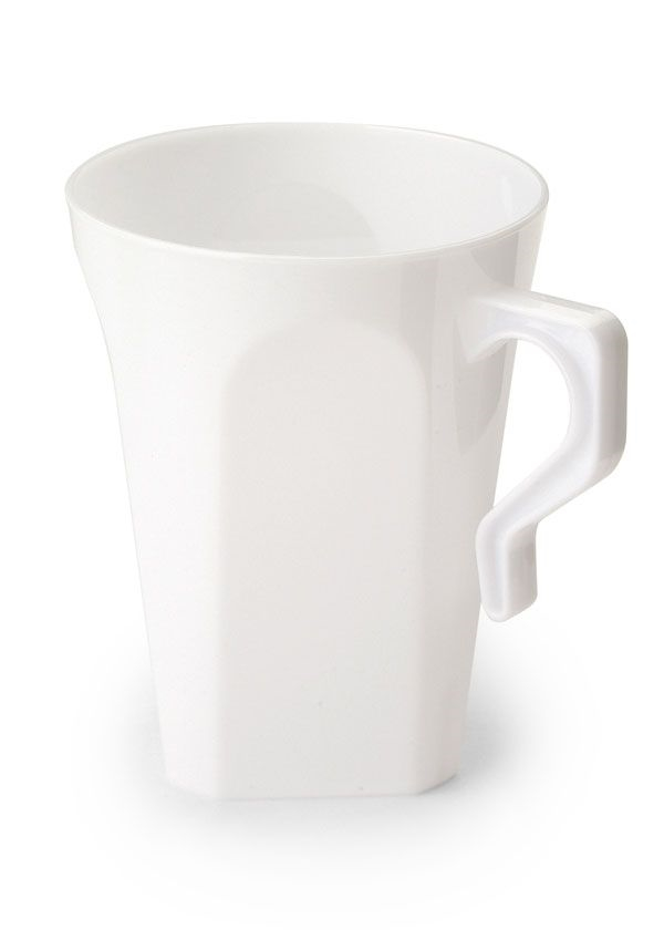 Disposable Clear Plastic Coffee Mug - 8 per pack