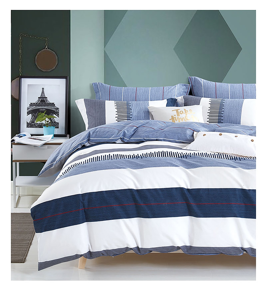 Eclipse 8PC 100% Cotton Bedding Set