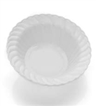 12oz Elegant Plastic Bowls Clear/White/Ivory 18 Count