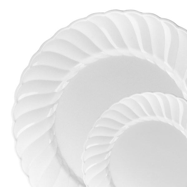 Elegant Plastic Plates Clear/White/Ivory 10 Count