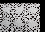 Florence White Lace Floral Pattern Tablecloth