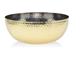 "Godinger 10"" Hammered Gold or Copper Stainless Steel Salad Bowl, Hammered Design Bowl, Stylish salad bowls"