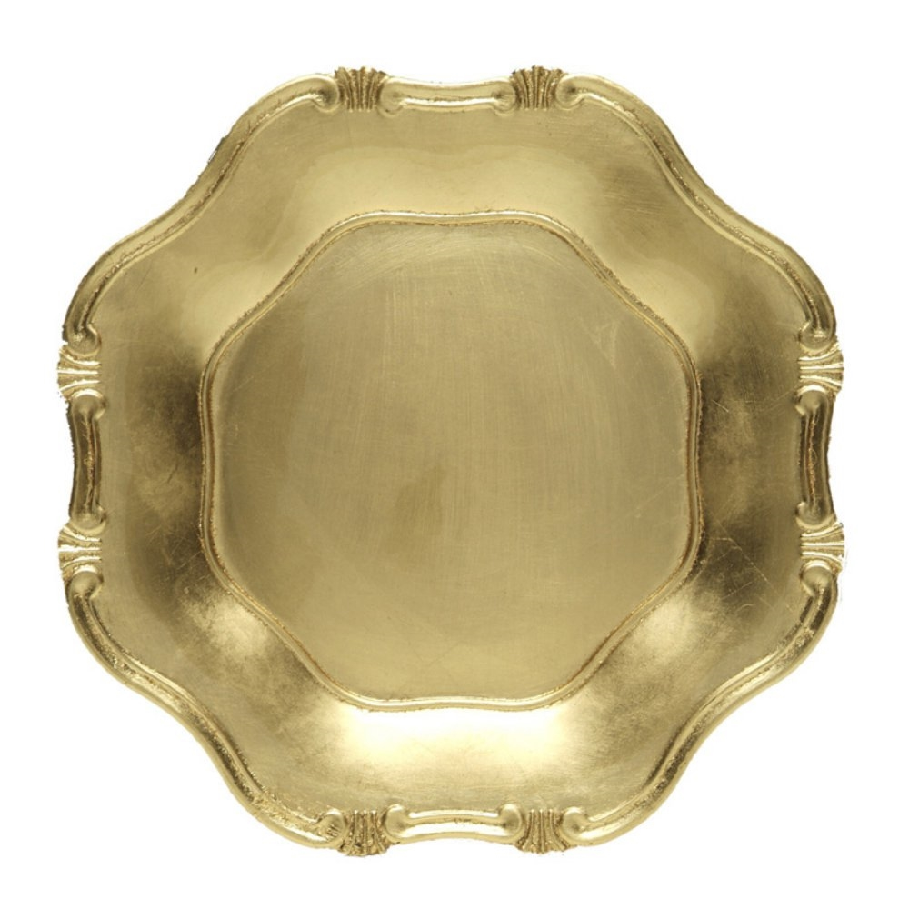 Gold Baroque Charger, Decorative Tableware Accessories
