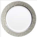"Hammered Collection 9"" Plates - White/Clear - 120 count"