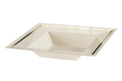 Imperial 12 oz. Ivory Plastic Bowls - 10 per pack, Fancy Ivory and Gold Plastic Dinner Plates