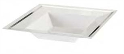 12oz Imperial Collection Plastic bowls for weddings White/Silver 120 Count