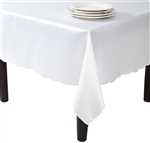 Ivory And White Tablecloth Liners - Luxury Table Covers