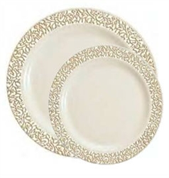 Lace Collection Ivory/Gold Case - Choose Plate Size