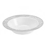 Lace Collection 12 oz White/Silver Bowl Case