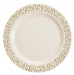 Bulk Disposable Lace Trim Tableware Package - 50 Guests