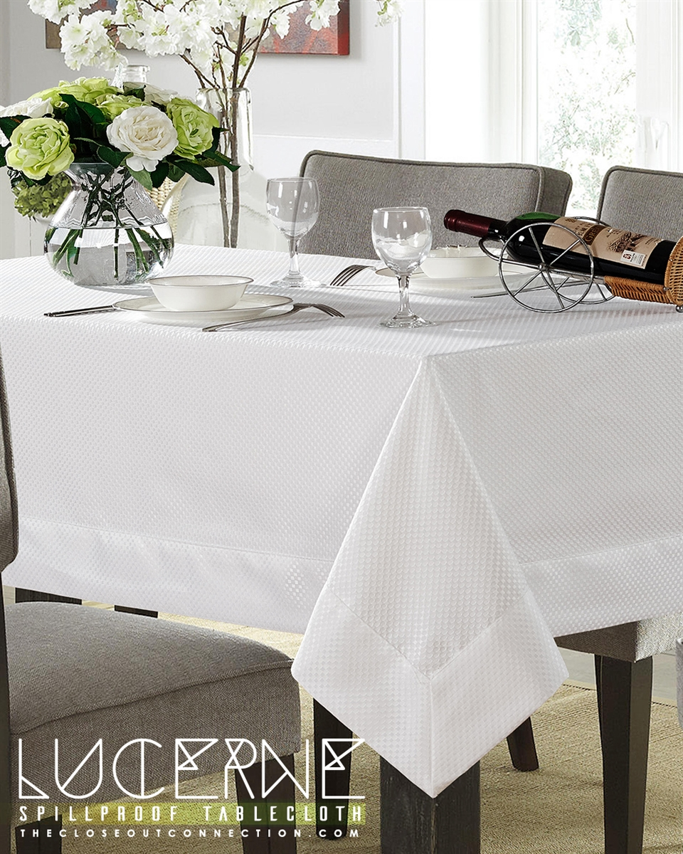 Lucerne Spill Proof Tablecloth