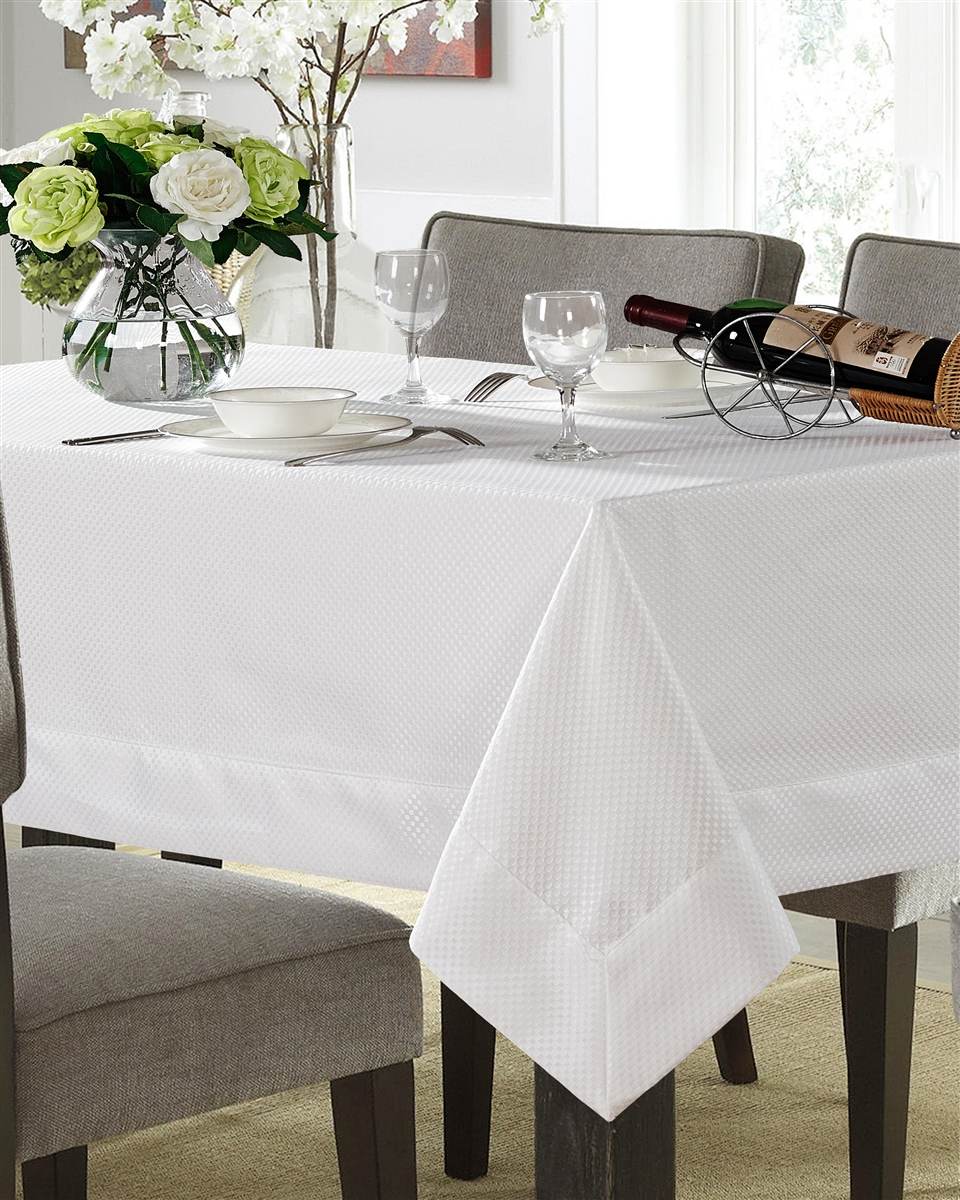 Lucerne Spill Proof Tablecloth - Available in White