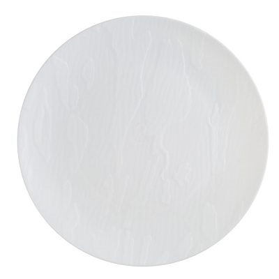 Mahogany Dinnerware Luxury Disposable Plates - White/black Mahogany- Choose Plate Size