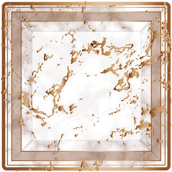 Marble Paper Plate Collection Rose Gold  10 count