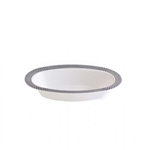 7oz My Party Collection White & Silver Bowls - 120 count