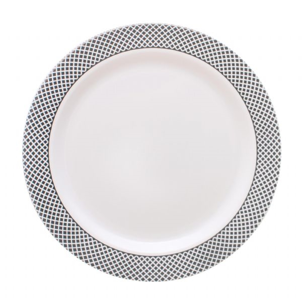 My Party Collection White u0026 Silver Plates - 120 count - Choose Plate Size  sc 1 st  The Closeout Connection & My Party Collection White u0026 Silver Plates - 120 count - Choose Plate ...