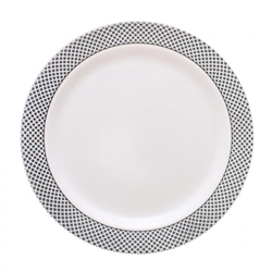 My Party Collection White & Silver Plates - Choose Plate Size