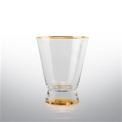 Rodeo Set of 4 Dof Tumbler Glasses - Gold Or Silver Rimmed