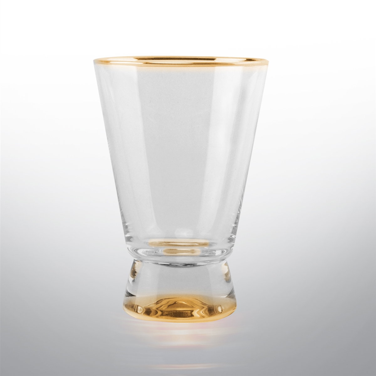 Rodeo Set of 4 Highball Glasses - Gold or Silver Rimmed