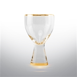 Rodeo Set of 4 Wine Glasses - Gold Or Silver Rimmed