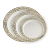 Royalty High End Plastic Plates Ivory/Gold 120 Count