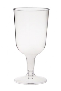 Disposable Plastic Wine Cups, 6 Per Pack - Disposable Party Cups
