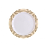 "7.5"" Gold Signature Collection High quality Gold Plastic Plates 10 count"