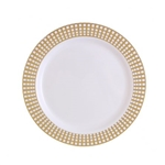 "9"" Gold Signature Collection High quality Gold Plastic Plates 10 count"