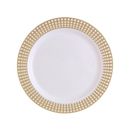 9  Gold Signature Collection High quality Gold Plastic Plates 10 count  sc 1 st  The Closeout Connection & 9