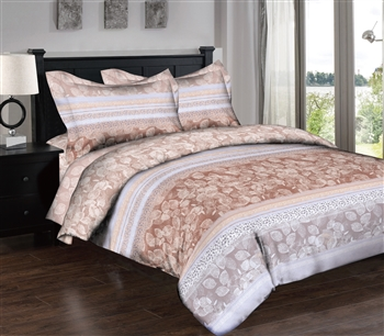 Muted Leaves 6PC Twin Bedding Set