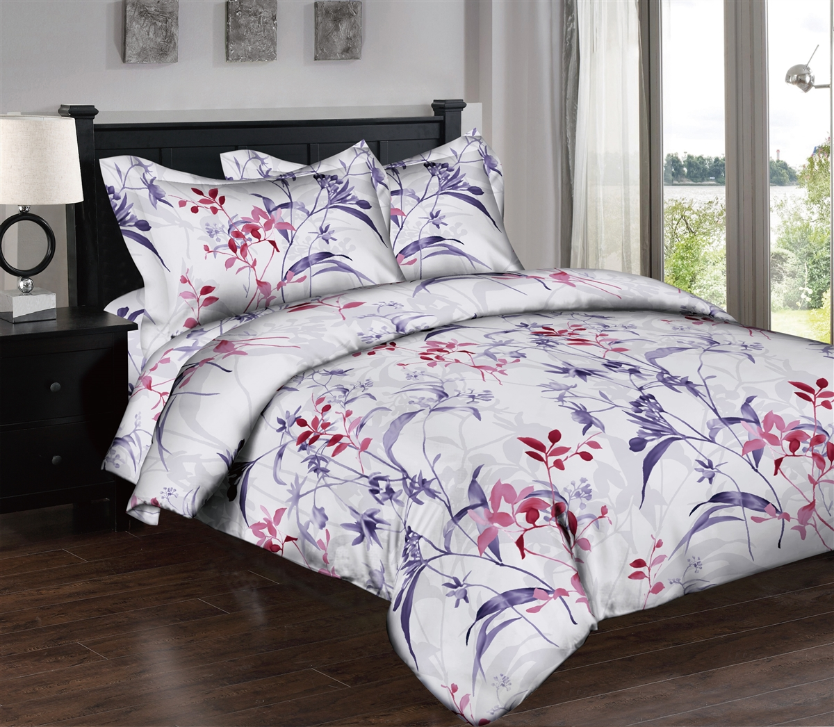 Watercolor Stems 6PC Twin Bedding Set