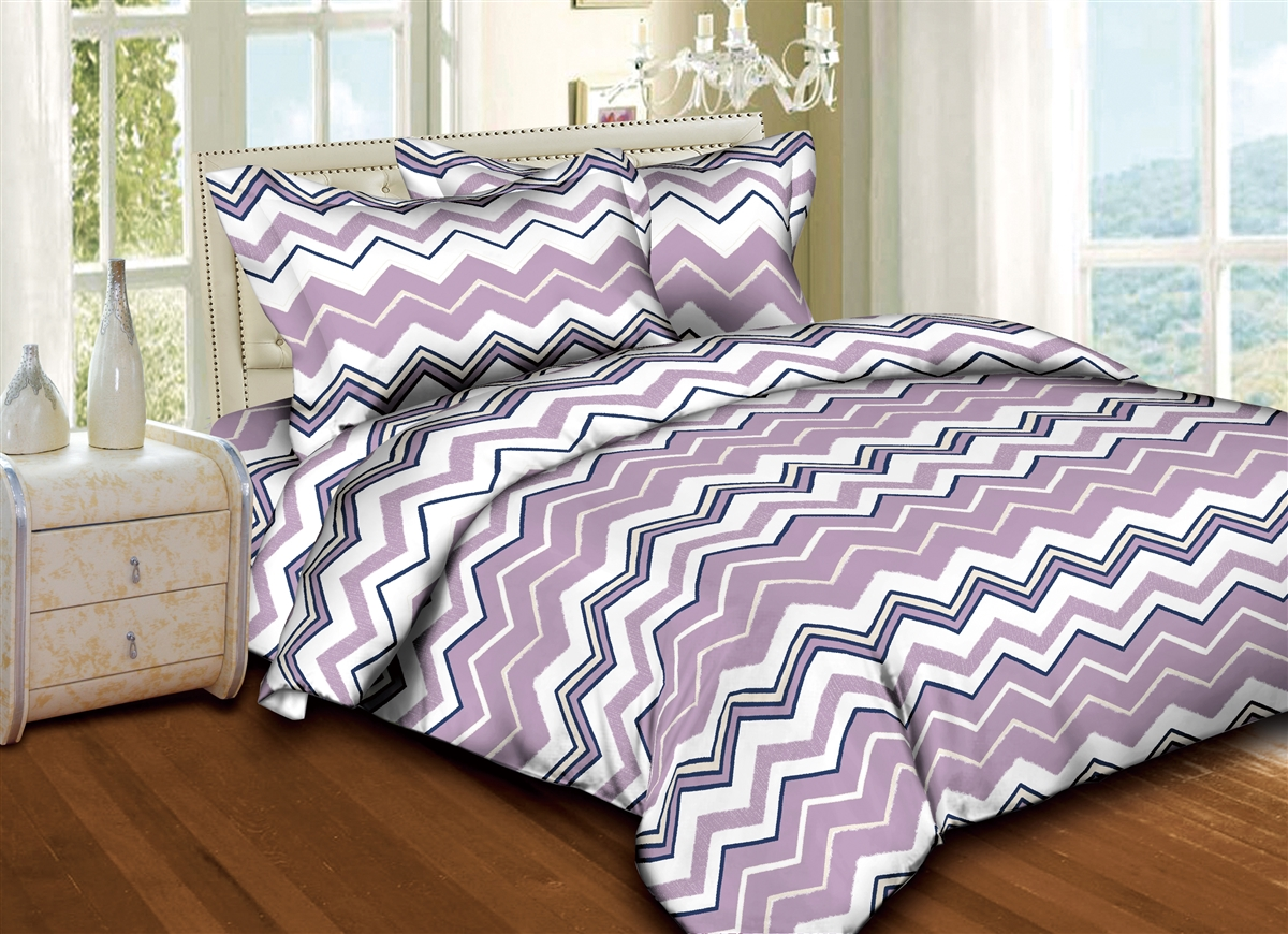 Lavender Zig-Zags  6PC Twin Bedding Set