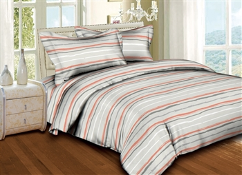 Tanned Stripes 6PC Twin Bedding Set