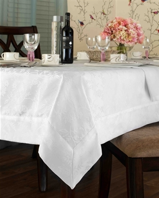 Seville Spill Proof Tablecloth - Available in White or Gold